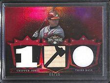 2007 Topps Triple Threads Baseball Jersey Bat #TTR 148 Chipper Jones No 6 of 36