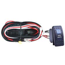 40A Wiring Harness Kit LED Light Bar Rocker Switch Toggle light Fuse SPST Spot