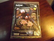"Vintage Janlynn Needlepoint Kit Water Lillies Pillowtop 10"" x 10"" MIP Unused"