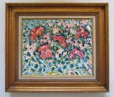 David Vigil Santa Fe Abstract Expressionist Flower Painting 1988