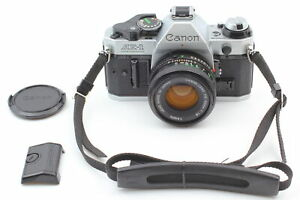 [Exc+4] Canon AE-1 Program Silver 35mm SLR Film Camera w/ New FD 50mm f/1.8 Lens