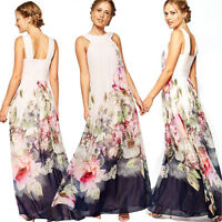 Women Summer Boho Long Maxi Evening Party Cocktail Dress Beach Dresses Sundress