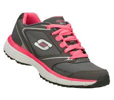 SKECHERS 'Agility-Rewind' Ladies Grey/Bright Pink Lightweight Running Trainers