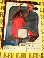 2001-02 UD Pros & Prospects KWAME BROWN Game Used Shoe Rookie #ed 210/350