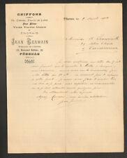 "PEZENAS (34) CHIFFONS OS PEAUX METAUX ENGRAIS ""Jean GERMAIN"" en 1904"