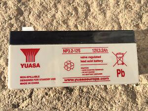 Yuasa NP3.2-12 12v 3.2Ah 12 volt Sealed Lead Acid  rechargeable battery