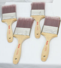 "4 Purdy Nylox Sprig Paint Brushes 3"" Straight All Paints Lot New Unused Painters"