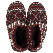 Muk Luks Mark Mens Sherpa-Lined Sweater Knit Boot Slippers