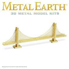 Fascinations Metal Earth Golden Gate Bridge in GOLD Laser Cut 3D Model