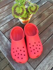 Lovely Red Crocs Size W8-9 M6-7