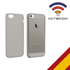 Actecom funda protector carcasa gel Ultraslim para iPhone se 5 5S semi oscura