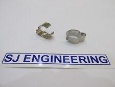 "BSA TRIUMPH HANDLEBAR CABLE CLIP 7/8"" BARS CHROME 97-4112 PAIR UK MADE  SJ170"