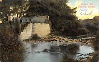 Emporia KS Stone Ruins of Patty's Mill in the Summertime c1908 Postcard