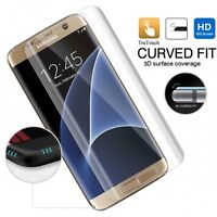SAMSUNG GALAXY S7 EDGE - FULL COVER CURVED SCREEN PROTECTOR HD CLEAR LCD COVER