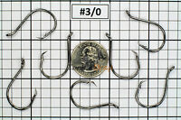 100 #3/0 Offset Octopus Circle Fishing Hooks 2X Strong Chemically Sharpened USA!