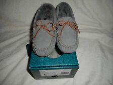 Leather Moccasins Solid Slippers for Women US Size 5
