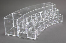 Quality Acrylic Clear Organizer Curved Multiple Dividers Cosmetics Makeup Tools