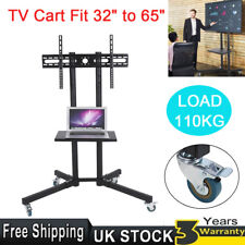 """Mobile Tilting TV Cart Floor Stand Mount Display Trolley for 32""""-65"""" Plasma/LCD"""