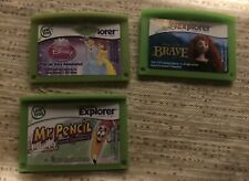 3 Leap Frog Explorer Game Lot Disney Brave Princess Story Adventures Mr Pencil