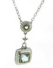 925 Sterling SIlver & Blue Topaz Gemstone Necklace