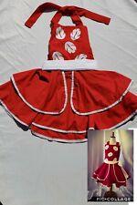 Girls Handmade Disney Dress Lilo Stitch Red Ohana Size 7 8