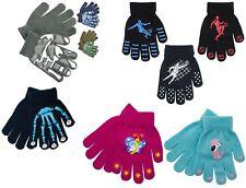 1 - 3 PACK Kids Boys Girls Magic Football Skull Camo Heart GRIP Winter Gloves