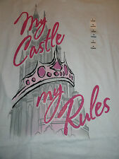 Large  My Castle My Rules ~ Disney Store V-Neck Tee Shirt NWT