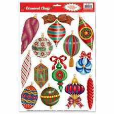 Christmas Ornament Window Clings Sheet