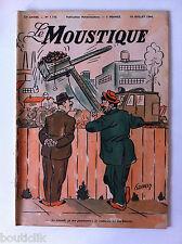 Tv Radio MOUSTIQUE 18/07/1948: couverture Joakes/ Humour Anglais à l'écran