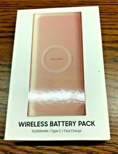 Samsung 2 in 1 Portable Fast Charge Wireless Charger and Battery Pack 10,000 mAh
