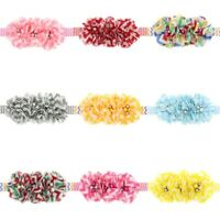 9 Pcs Kids Girl Baby Headband Toddler Lace Bow Flower Hair Band Accessories US