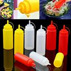 Plastic Squeeze Bottle Condiment Dispenser Mustard Ketchup Sauce Vinegar 6-24OZ