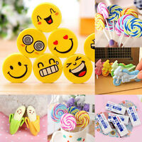 Lots Style Rubber Pencil Eraser Office Students kids Stationery Gift