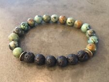 Essential Oil Diffuser Lava Rock African Turquoise Bracelet Aromatherapy