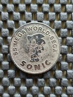 Vntage Sega Sonic The Hedgehog SS MegaWorld Indonesia arcade Token Coin Rare egg