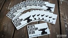 """Ken's Custom Iron"" Vinyl Decal - FREE SHIPPING"