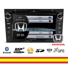 "Radio CD para Honda CRV 8"" GPS Reproductor multimedia USB Bluetooth Soporta 3G"