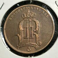 1875 SWEDEN 5 ORE HIGH GRADE COIN