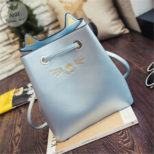 2017 Bucket Bag Cat Girl Hand Bags Kitty Cat Bag Women Messenger Crossbody Bag