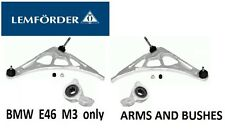 LEMFORDER BMW e46 M3 Front LEFT + RIGHT Suspension Wishbone Arm & Bush (M3 ONLY)