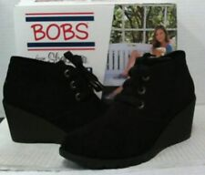 NEW Skechers Women's Tumble Weed Urban Rugged Suede Ankle Boots sz 8 Black $95