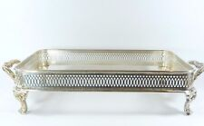 """Pilgrim Silver Plate Footed Serving Cradle Holder for 12.5x7.75"""" Max Baking Dish"""