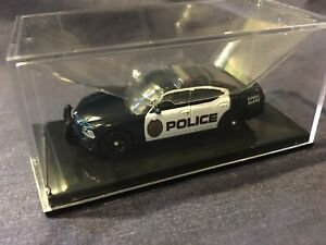Ricko Dodge Charger Police 1:87 HO Scale Car in Box with Case, #38368