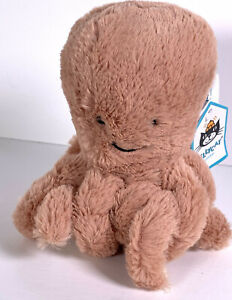 Jellycat London Small Baby Odell Octopus Soft Toy Comforter Soother Peach BNWT