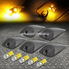 FOR 88-02 CHEVY/GMC C/K 5PCS SMOKED HOUSING YELLOW LED CAB ROOF RUNNING LIGHT