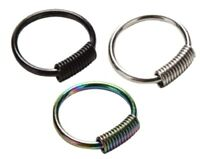 g23 Titanium Spring Rings Body Ring Septum Tragus Jewellery 12mm - 16g (1.2mm)