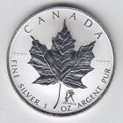 2004 Maple Leaf Aquarius Privy 1 oz Pure Canadian Silver Privy Mark - No Tax