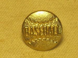 "baseball pin gold-tone metal ball figure 1""  raised letter sport lapel player"