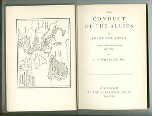 The Conduct of the Allies by Jonathan Swift edited by CB Wheeler 1916 edition