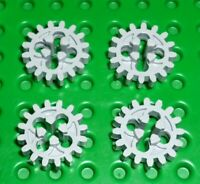 LEGO - TECHNIC - GEAR 16 Tooth (Old Style), LIGHT BLUISH GREY x 4 (4019) TK838